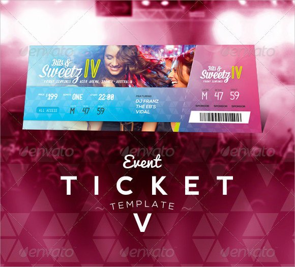 22+ Sample Amazing Event Ticket Templates to Download Sample Templates