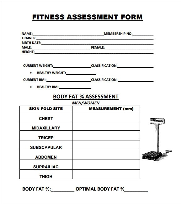 physical fitness assessment form - Maggilocustdesign - Assessment Form In Pdf