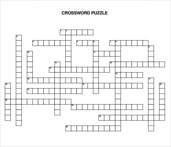10+ Blank Crossword Templates Sample Templates