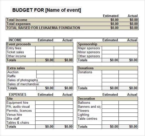 Non Profit Event Planning Checklist  Instruction Booklet Sample