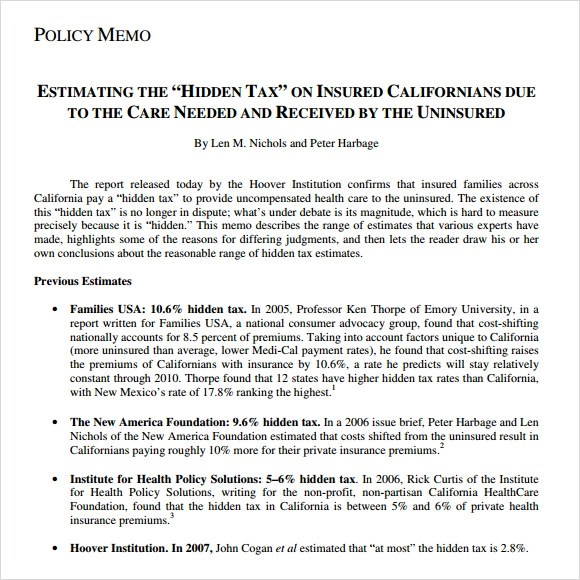 health policy memo example The Death Of Health Policy Memo