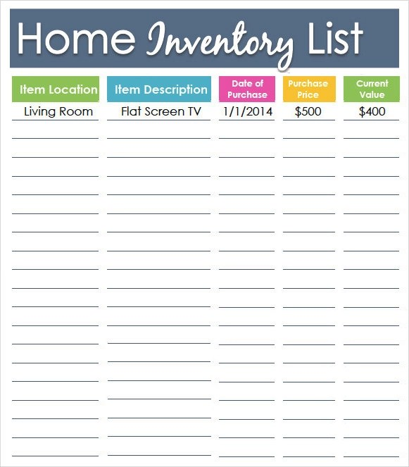10+ Inventory List Templates Sample Templates