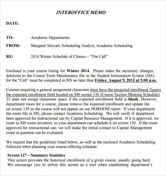 memo template word 2013 - Holaklonec - interoffice memo samples