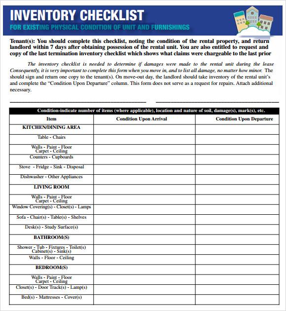17+ Sample Inventory Checklist Templates Sample Templates - inventory sheet template excel