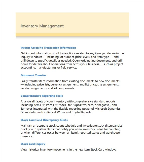 11+ Sample Inventory Management Templates Sample Templates