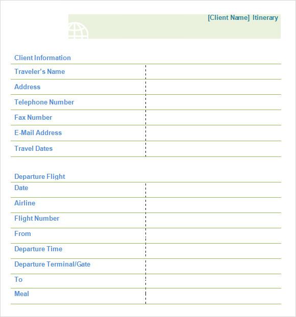 8+ Daily Itinerary Samples Sample Templates