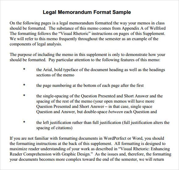 6+ Formal Memorandum Samples Sample Templates