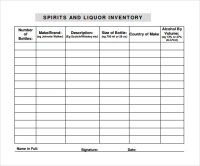 9 Sample Liquor Inventory Templates to Download | Sample ...