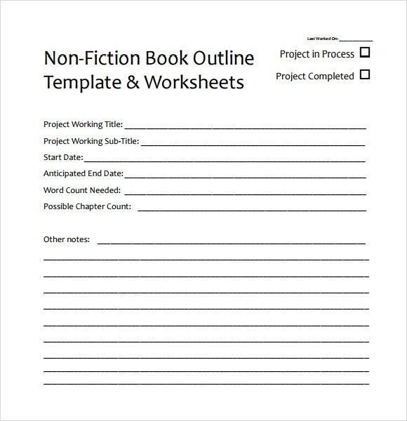 8 Useful Book Outline Templates to Download Sample Templates - book outline template