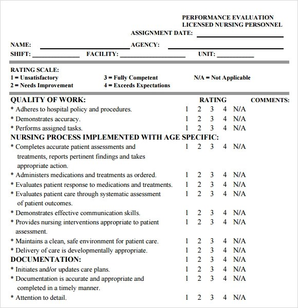 7+ Sample Nursing Assessments Sample Templates - nursing assessment forms