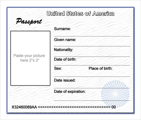 passport template for kids pdf - Funfpandroid - free passport template for kids