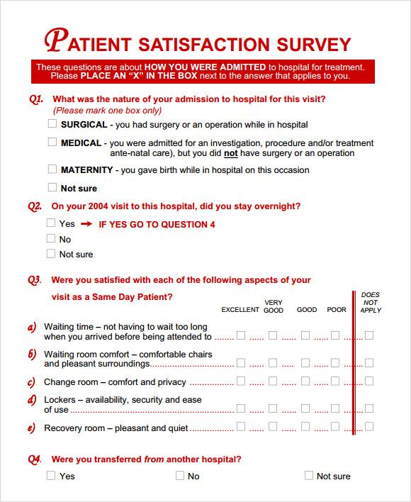 customer satisfaction survey example