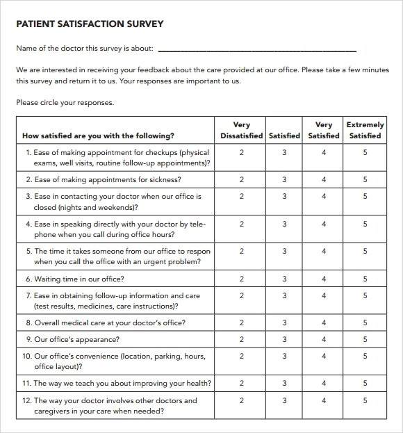 satisfaction survey templates - Yelommyphonecompany