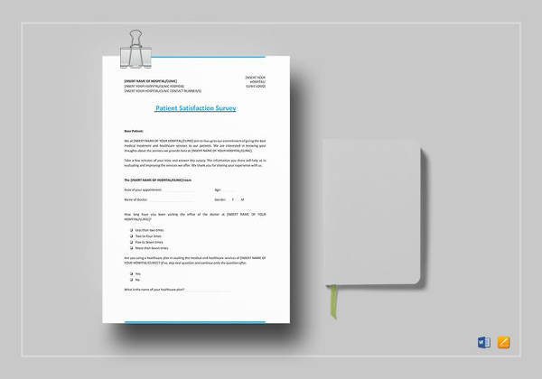11 Sample Patient Satisfaction Survey Templates to Download Sample - ms word survey template