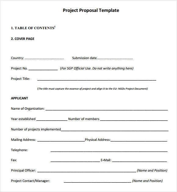 10 Sample Project Outline Templates to Download Sample Templates - sample proposal template for project