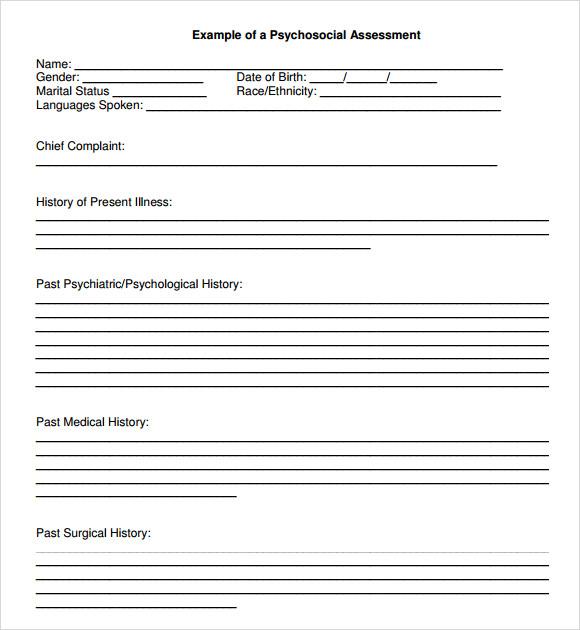 9+ Biopsychosocial Assessment Templates - PDF