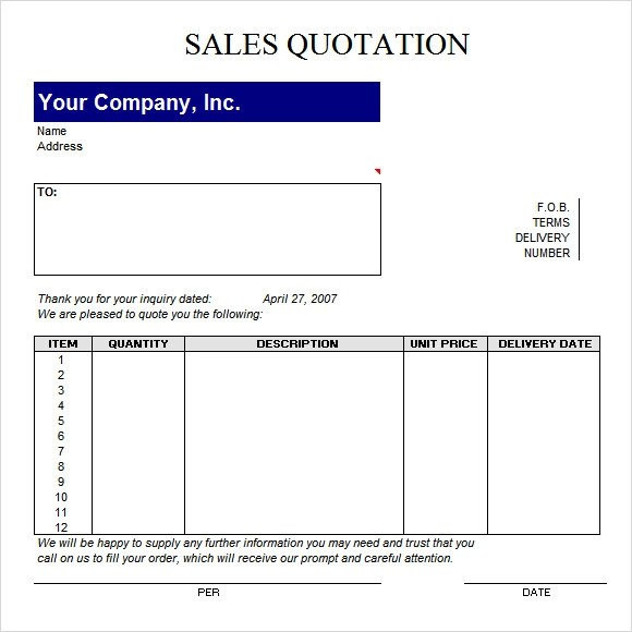 52+ Quotation Templates - DOC, PDF, Excel
