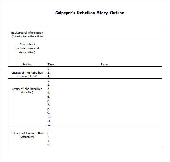 story outline - Delliberiberi - book outline template