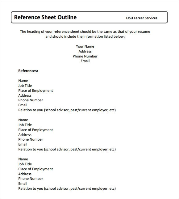 how to include references in cv