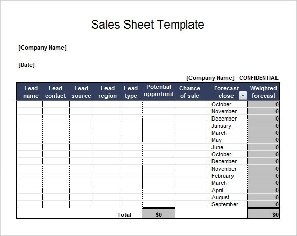 7+ Sales Sheet Samples Sample Templates