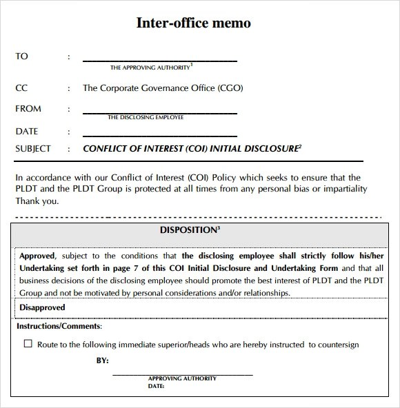 sample office memo template - Boatjeremyeaton - sample internal memo template
