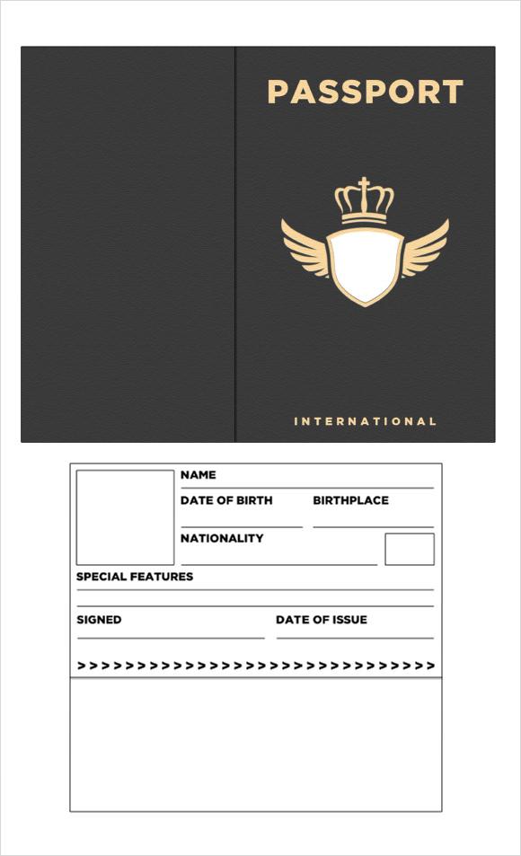 passport template free