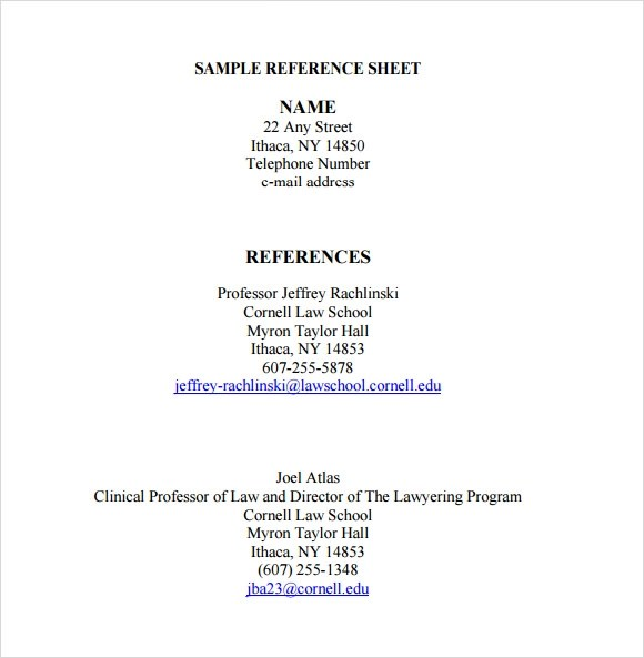 Reference List Examples For Jobs Resume Reference Page Occupationalexamplessamples Free Reference Sheet Template 9download Free Documents In Pdf