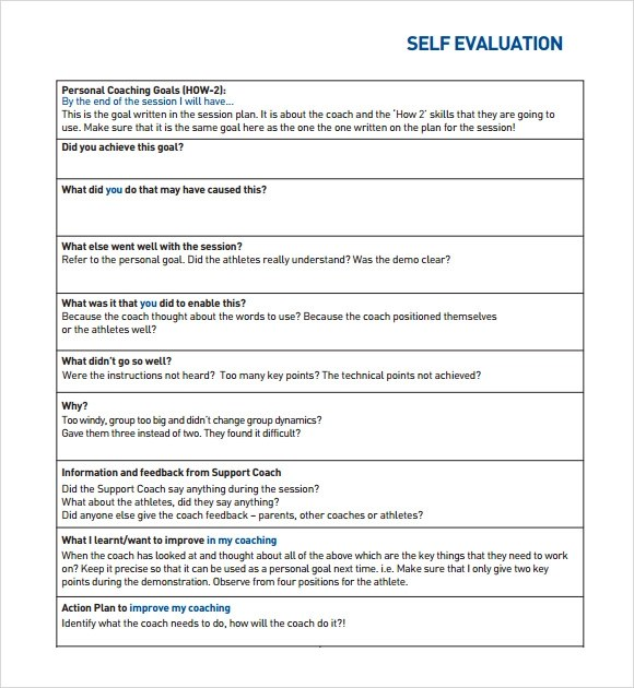Employee Self Evaluation Related For 9+ Employee Self Evaluation - employee self evaluation form