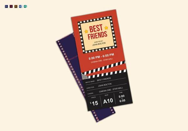 11 Sample Amazing Movie Ticket Templates to Download Sample Templates - ticket paper template