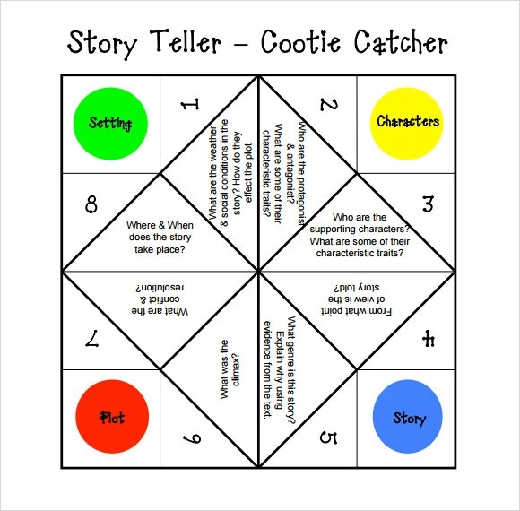 10+ Cootie Catcher Templates Sample Templates