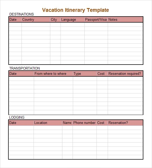 Family Vacation Calendar Template Employee Vacation Tracking Calendar Excel Template Sample Daily Itinerary 7 Documents In Pdf Word Excel