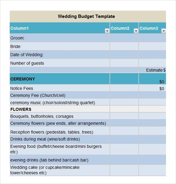 church budget template example hitecauto - sample wedding budget