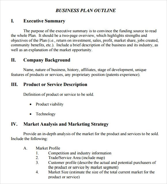 Business Plan Outline Template - 10+ Download Free Documents in PDF