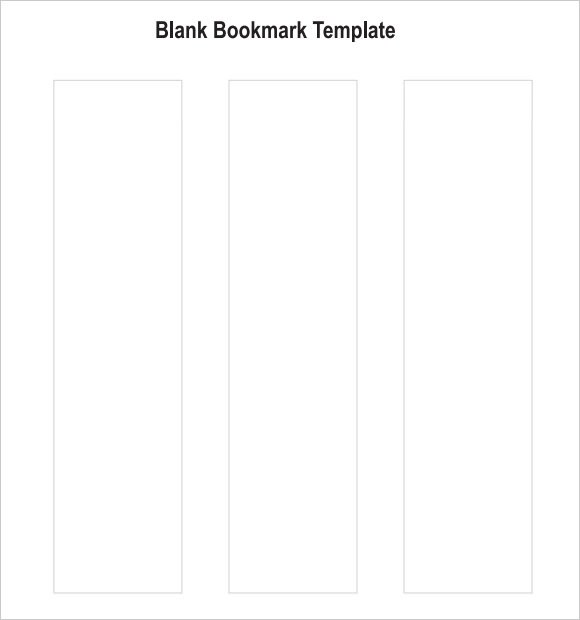 7+ Sample Blank Bookmarks Sample Templates - blank bookmark template