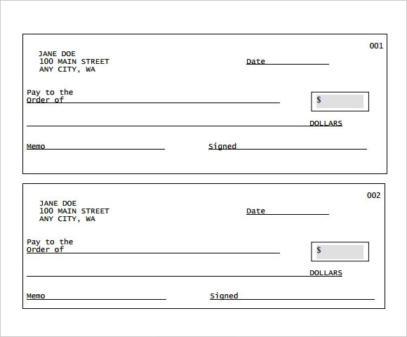 Sample Blank Cheque - 5+ Documents in PDF, PSD