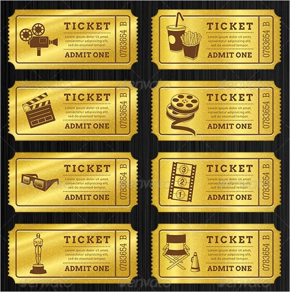 ticket stub template free download