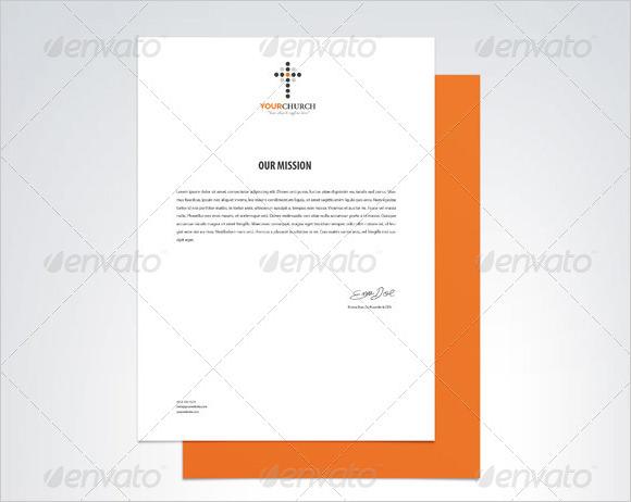 6+ Sample Church Letterheads Sample Templates - letter headed samples