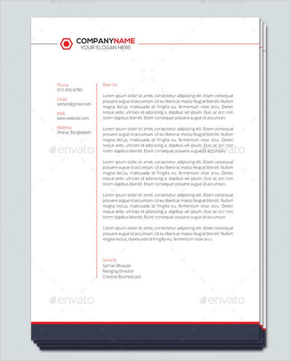 11+ Sample Company Letterhead Templates Sample Templates