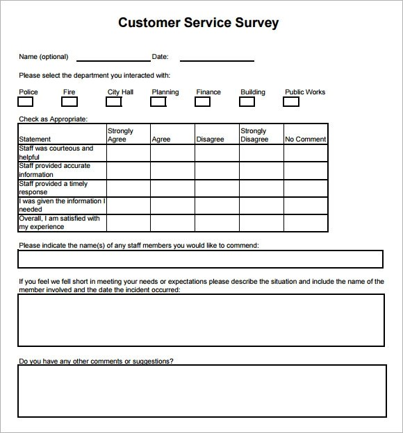 sample product survey