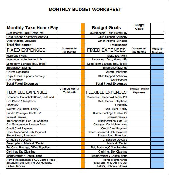 6+ Sample Budget Sheets Sample Templates - Sample Budget Sheet