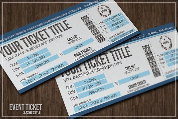 15+ Sample Blank Ticket Templates Sample Templates - free event ticket template printable