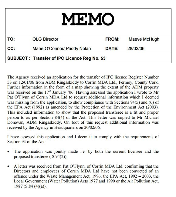 sample internal memos - Boatjeremyeaton - sample internal memo template