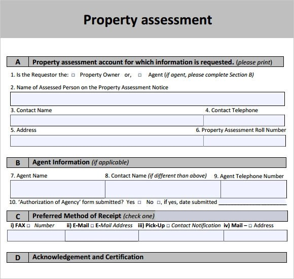 Property Assessment Template Information Security Risk Assessment - assessment report format