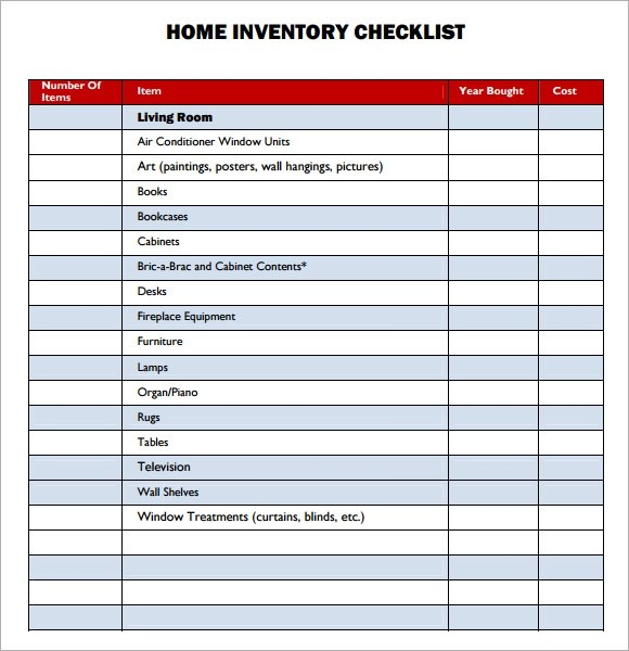 Sample Property Inventory Template - 9+ Free Documents Download in PDF - inventory list example