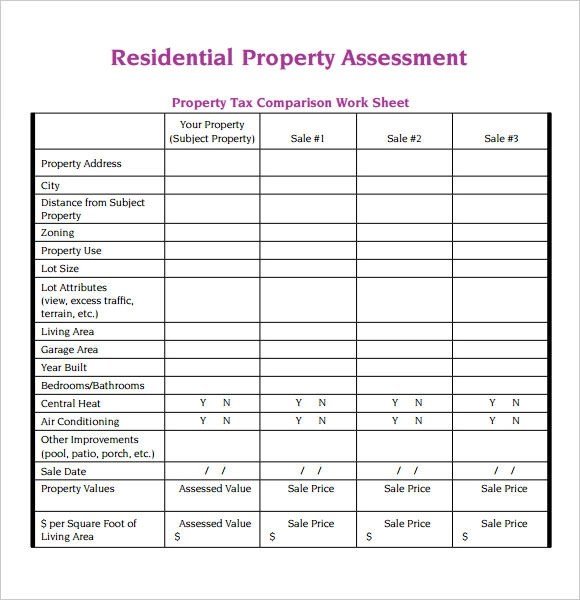 Property Assessment Template Grant Deed Form General Warranty Deed