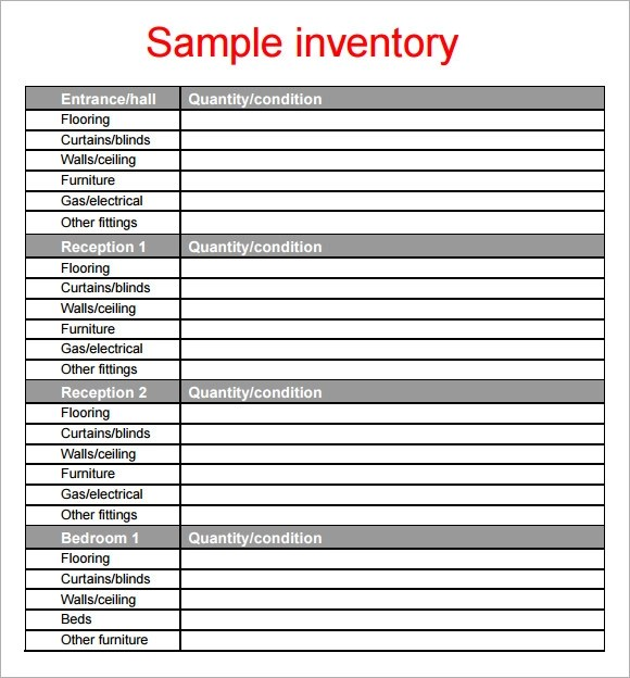 10+ Property Inventory Templates Sample Templates