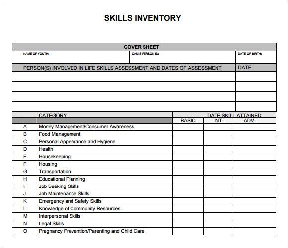 13+ Skills Inventory Templates Sample Templates