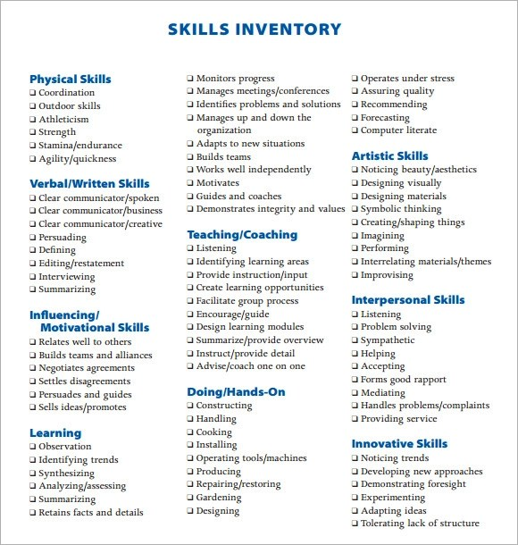 skill list - Onwebioinnovate - list of technical skills