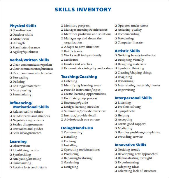 inventory skills resume node2004-resume-templatepaasprovider