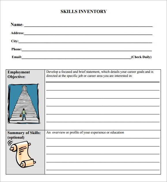 skills inventory template - 28 images - sle skills inventory